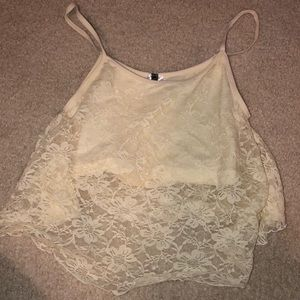 Windsor CROPPED LACE TANK